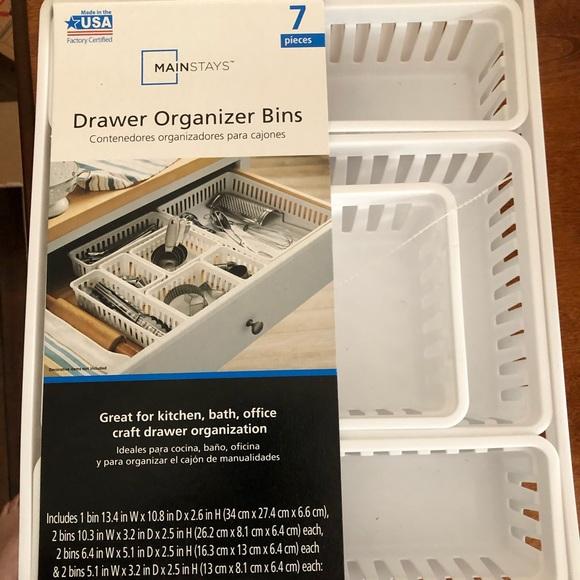 7 piece drawer organizer
